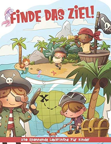 Finde das Ziel!: Spannende Labyrinthe für Kinder ab 5 - Aktivitätsbuch für Kinder