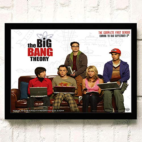 PCCASEWIND Frameless Painting 50X70Cm, The Big Bang Theory Movie Wall Artist Home Decoration Canvas Painting Nordic Hotel Bar Cafe Living Room Poster,Pc-1210