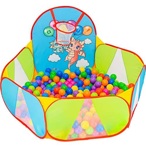 NUBUNI Bällebad für Kinder : Bällepool : Bällebad für Baby : Kleinkind Bällchenpool : Bällchenbad : Planschbecken : Baby Spielzelt : Ballebad : Pop up C