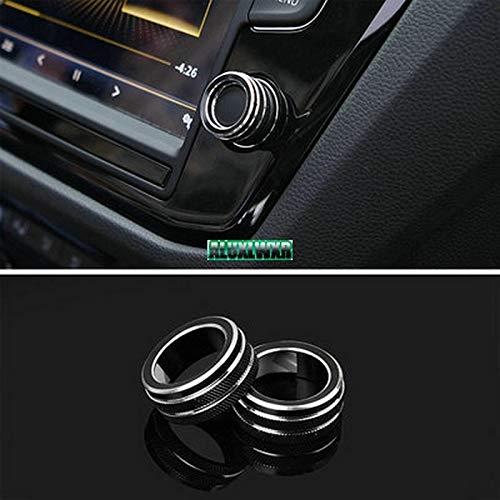 FFZ Parts Navi Radio Schalter Alu Ringe Passend Für Golf 7 Tiguan 2 Passat B8 T-ROC Aerton to Für Caddy Polo