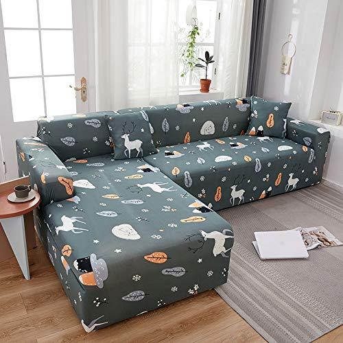 PPMP Muebles de Sala de Estar Funda de sofá de poliéster elástico Funda Protectora Funda de sofá sillón Funda de sofá A16 3 plazas
