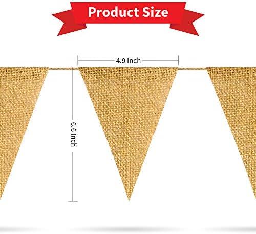 Burlap garland wholesale _image2