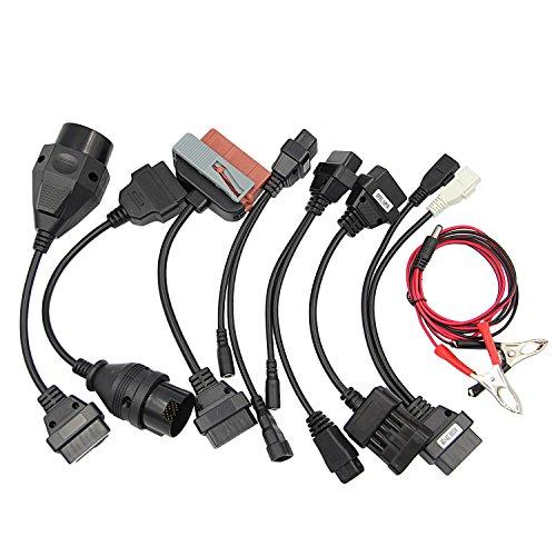 Vococal - OBD2 1 Juego Aparato de Prueba Diagnóstica para Vehiculo (8 Cables de Adaptadores)