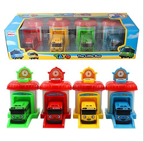 LIUSHIWEINBL Anime tayo katapult Bus Spielzeug kleinbus zurückziehen autobus kleinbus Auto Spielzeug