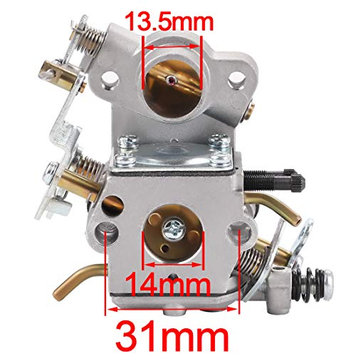 Hipa C1M-W26 Carburetor with 530057925 Air Filter Fuel Line Filter Tune-up Kit for Poulan P3314 P3416 P3816 P4018 PP3416 PP3516 PP3816 PP4018 PPB3416 PPB4018 PPB4218 S1970 Power Gas Chainsaw
