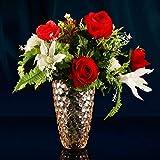 HXXyuyoga Romántico Europeo Floreros de Vidrio de Colores Floreros de Aterrizaje Sala de Estar Flores secas Adornos Contenedores de Plantas de Cultivo de Agua