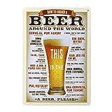 Toyvian Cartel de Placa Carteles de Chapa de Metal Vintage Retro para cafetería decoración de Arte de Pared de Pub de Cerveza 7 87 * 11 81 Pulgadas
