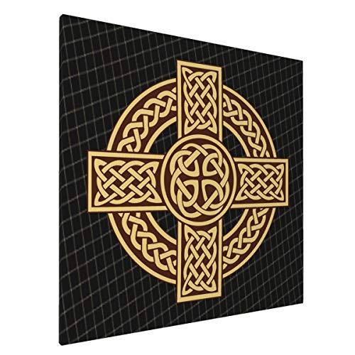 DOOD JULO Celtic Cross Irish Scottish Art Picture Painting Poster Ink Printing 20x20in Wall Art for Living Room Frameless Draw