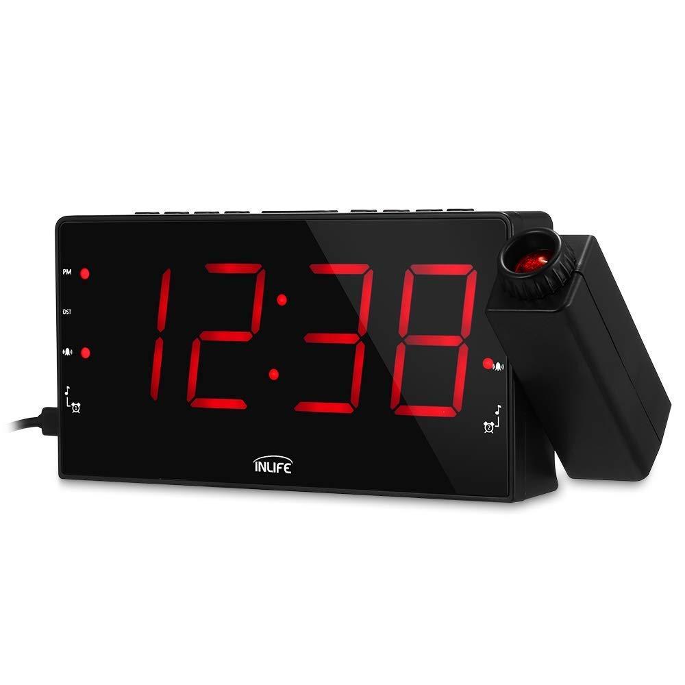 InLife Despertador Proyector Reloj de Proyección Despertador ...