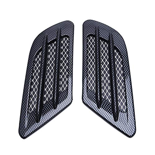 H.Y.FFYH Hood Vent Air Flow Intake Hood Scoop Vent Bonnet Cover Sticker for Car Decorative Engine Carbon Fiber Self-Adhesive Universal Intake Panel