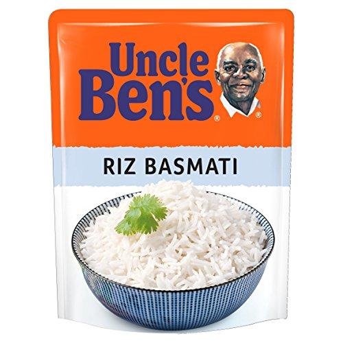 UNCLE BEN'S Riz Basmati - Express 2 min au micro-onde ou à la poêle - 250 g