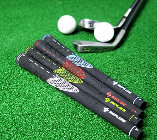 SAPLIZE Golf Grips (13 Grips Total Solution Pack), Rubber Golf Club Grips, Standard Size, Blue, CC01 Series