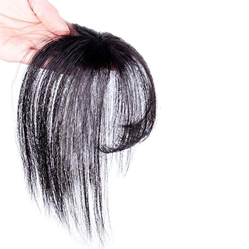3D Air Bangs Hair Topper Extension Invisible Seamless Thin Neat Air Pony