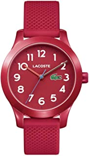 Lacoste Kids' TR90 Quartz Watch with Rubber Strap, Red, 14 (Model: 2030004)
