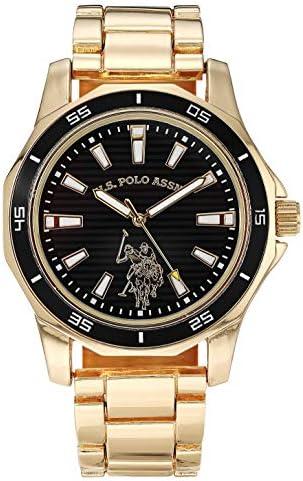 U S Polo Assn Men s Quartz Watch with Alloy Strap Gold 16 Model USC80639AZ product image