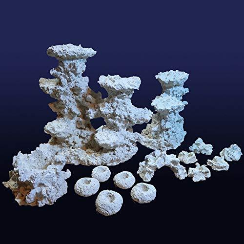 Riffkeramik Set Plateau-Säulen (14 Artikel) Meerwasser Aquarium Dekoration