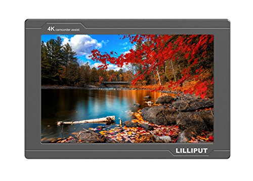 """LILLIPUT FS7 7"""" Full HD Camera Monitor with 3G-SDI and 4K HDMI Metal Housing High Resolution F970 Plate for Camcorder DSLR"""