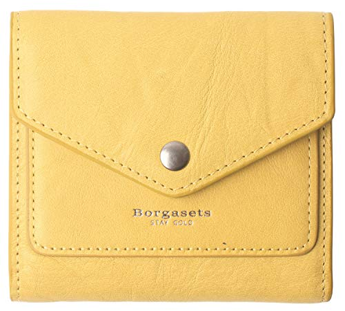 Small Leather Wallet for Women, RFID Blocking Women's Credit Card Holder Mini Bifold Pocket Purse (Limited Edition-Ice Yellow)