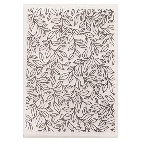 Mmnas - Plantilla de plástico para repujado, álbum de recortes, álbum de fotos, tarjetas, hojas de árbol