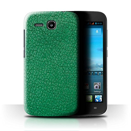Stuff4 Hülle/Hülle für Huawei Ascend Y600 / Smaragd Grün Muster/Leder Patch Effekt Kollektion
