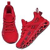 UMmaid Kinder Turnschuhe Kinderschuhe Jungen Sneaker Mädchen Outdoor Sportschuhe Casual Laufschuhe Atmungsaktiv Leicht Hallenschuhe für Unisex-Kinder,F Rot,32