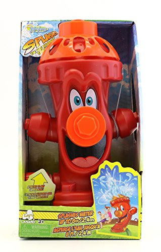 Kids Sprinkler Fire Hydrant, Attach Water Sprinkler for Kids to Garden Hose for Backyard Fun, Splash...