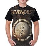 Lemonationob Sevendust Time Travelers & Bonfires Shirt Mens Short Sleeve T Shirt Indestructible Casual T Shirts Black