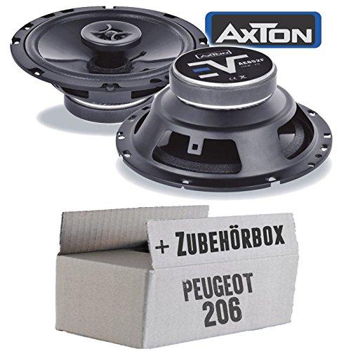 Lautsprecher Boxen Axton AE652F | 16cm 2-Wege 160mm Koax Auto Einbauzubehör - Einbauset für Peugeot 206 - JUST SOUND best choice for caraudio