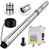 Happybuy Well Pump 3 HP 220V Submersible Well Pump 630ft Head 42GPM Stainless Steel Deep Well Pump for Industrial and Home Use