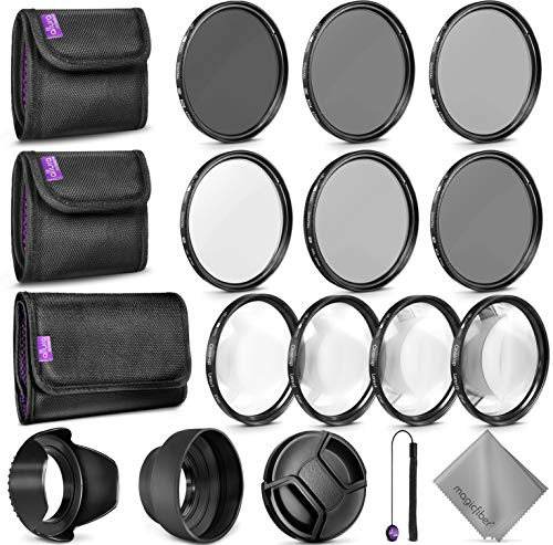 goja lens filters 67MM Complete Lens Filter Accessory Kit for Camera Lenses: Includes Altura Photo UV CPL ND4 Filter Kit, Macro Close Up Kit and Neutral Density Filter Set