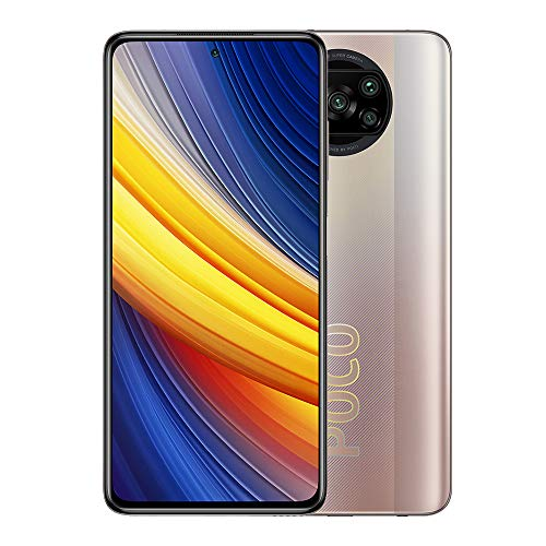 Xiaomi Poco X3 Pro-Smartphone 8GB 256GB Teléfono,6,67' DotDisplay FHD+,Procesador Snapdragon 860,48MP AI Cámara Cuádruple con NFC,SIM 1 + Slot híbrido,Versión Global(Bronze)