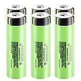 RECORDARME Ncr18650b 3.7v 3400mah MAX 20a Batería Recargable De Iones De Litio, para Linterna Banco De Energía MicróFono Radio Faros CáMaras Control Remoto 6pcs