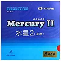 (水星2 黒 ソフト)銀河「ギンガ YINHE」水星2「スイセイ2」 ラバー 粘着性ラバー 卓球用 裏ソフトラバー ITTF