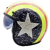 ZHEN Casco Jet Moto,ECE Homologado,Profesional Half Cascos Helmet para Mujer y Hombre,Cuero Hecho a Mano Half-Helmet de la Motocicleta Scooter Motoneta Adultos Hombres Mujeres