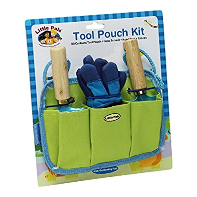 Tierra Garden 7-LP441 Little Pals Kids Tool Pouch Kit, Blue