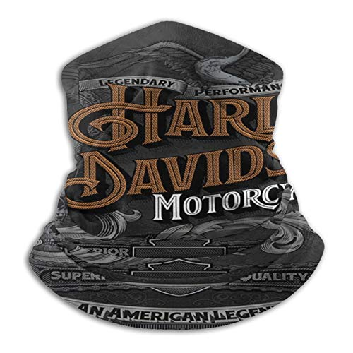 Harley Davidson - Ghetta per collo unisex con scaldacollo, passamontagna e scaldacollo, protezione UV/vento, riutilizzabile, lavabile, elastica, traspirante, per yoga, corsa, escursionismo