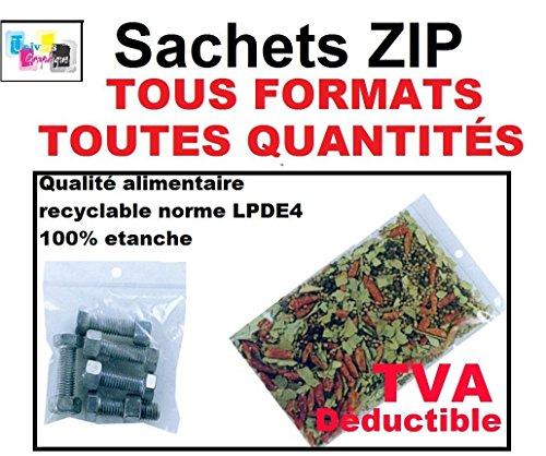 10 zip Tasche 350 x 450 mm Taschen Schließ Reißverschluss 35 x 45 cm Schnappverschluss Einfrierens ECE-Norm konform alimentairet