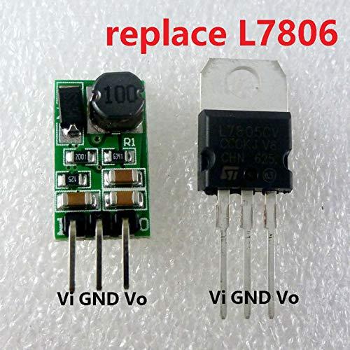 1A DC 7,5-40 V 12 V bis 6 V Regler DC-DC-Abwärtswandler-Modulplatine ersetzen LM7806 L7806 TO-220 IC