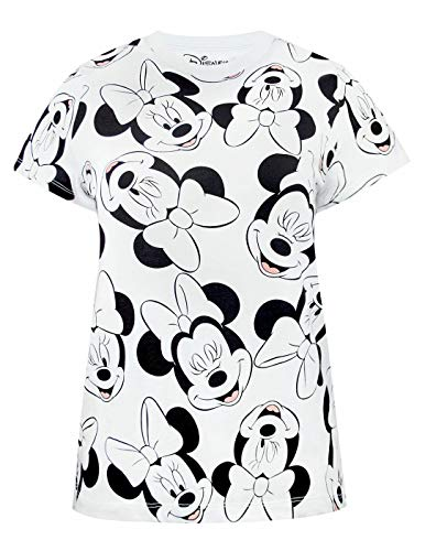 Disney Minnie Mouse Character All Over Print Camiseta sin Mangas para Mujer