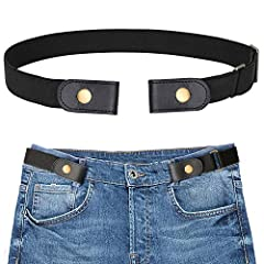 Easy Use Belt to Make Life Easier - To use this elastic belt, just snap on once and forget you're wearing a belt all day. Hassle-free dressing, save time for bathroom breaks! Buckle-less Belt, Looks Almost Invisible - No buckle belt, there's no bulge...