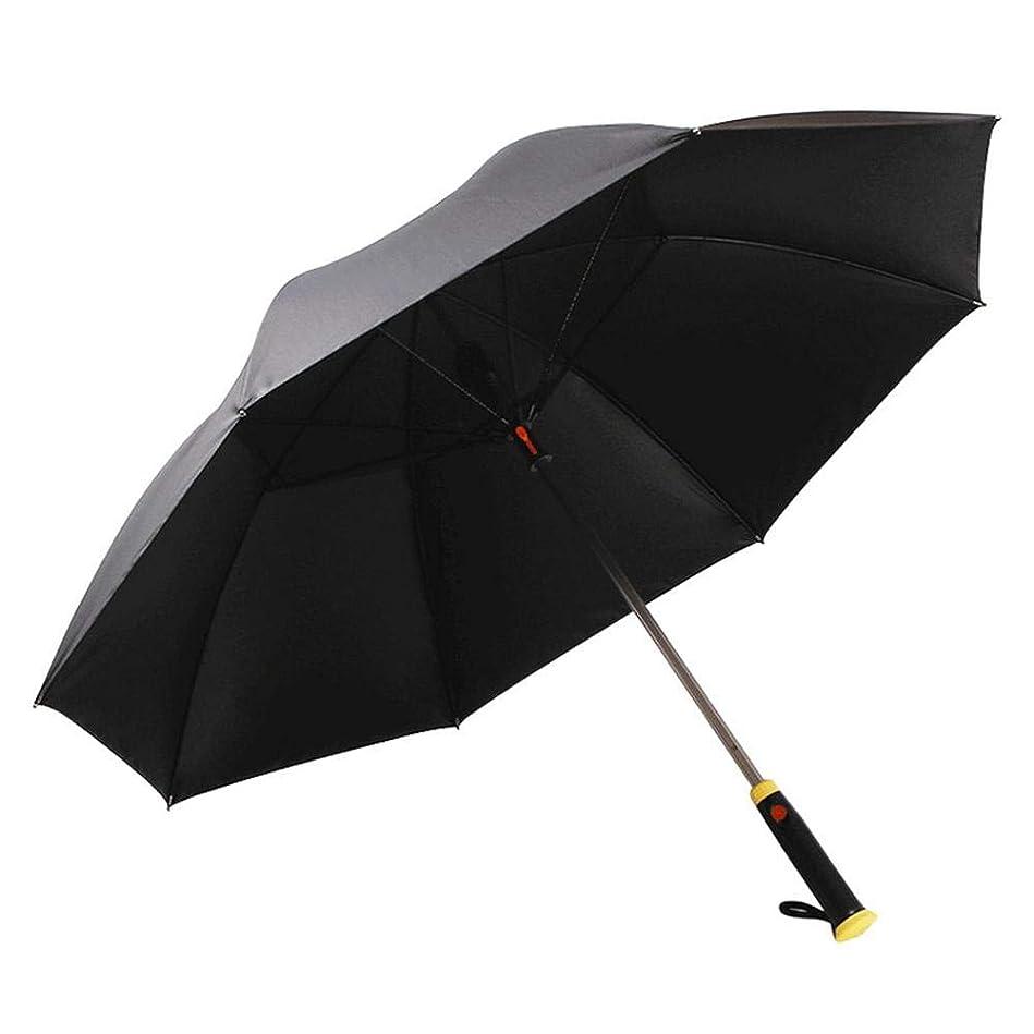 ピクニックをする試用州扇風機付き傘 日傘 ファンファンパラソル ブルーボーダー シルバーコーティング USB充電式 晴雨兼用 スポーツ観戦 遮光 紫外線対策 モバイルバッテリー 男性 女性 子供 通勤 通学 熱中症対策 外出に
