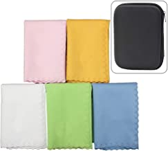 Luvay 5pcs Microfiber Polishing Cleaning Cloth with Case (EVA Box) for Musical Instrument Guitar, Piano, Violin, Sax, Clar...