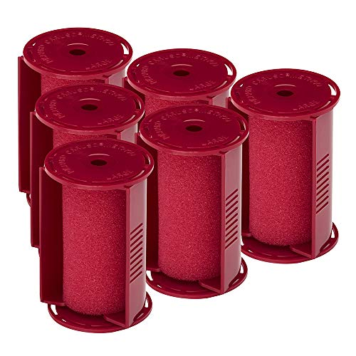 "Caruso Professional Large Molecular Replacement Steam Hair Rollers with Shields, 6-Pack, 1-1/2"" Inches"