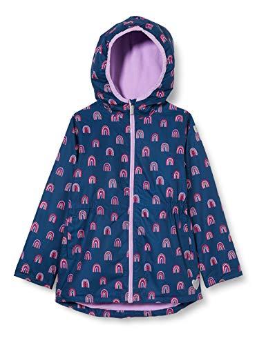 Hatley Mädchen Microfiber Rain Jackets Regenjacke, Regenbogen-Party, 2 Years