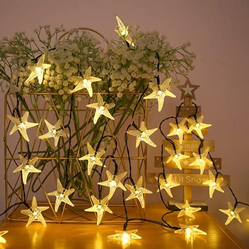 Wandskllss LED Cadena de luces solares luces de hadas exterior cadena de luz jardín luces decoración árbol de Navidad luces hadas blanco cálido 12 m 100 luces