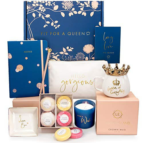 Royal Birthday Gift Basket For Her: 8 Luxurious Gifts for Women with Gift Card - Best Birthday Gift Boxes For Women
