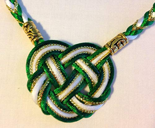 Celtic Heart with Satin and Metallic Cord Handfasting Cord