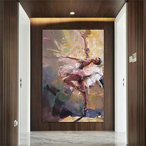 N / A Tanzende Mädchen Malerei Leinwand Wand Kunstdruck dekorative Leinwand Kunst rahmenlose rahmenlose Malerei 40cmx60cm