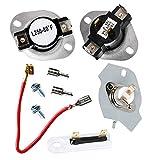 JJDD 3387134 3392519 279816 - Kit de fusibles térmicos para termostato de secadora Whirlpool Kenmore Roper KitchenAid Crosley Maytag Dryer