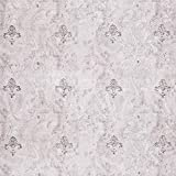 Dundee Deco AZ-95044 Distressed Grey, Charcoal Fleur de Lis Peel and Stick Self Adhesive Removable Wallpaper, Roll 18 ft. X 24 in. (5.5m X 60cm), 35.5 sq. ft. (3.3 sq. m)